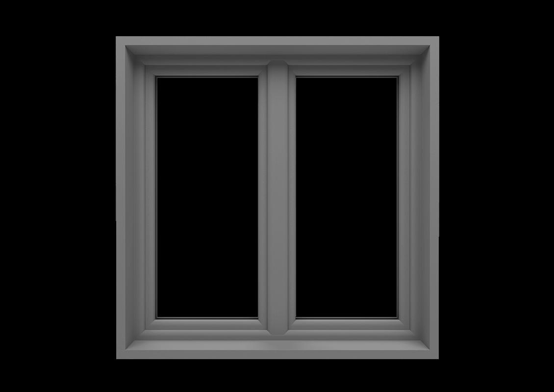 T-passive Classic okno monoblok kolor szary srebrny